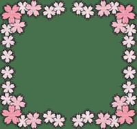 Cadre frame rose pink flower fleur sakura