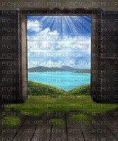 island room door summer