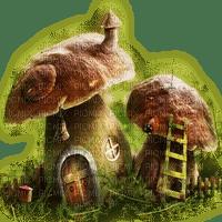 mushroom fairy house deco