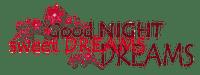 good night text deco sweet dreams
