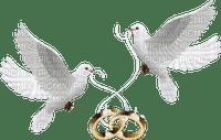 Kaz_Creations Deco Wedding Rings Doves