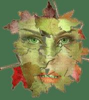 visage de femme d'automne