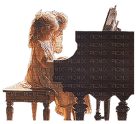 Kaz_Creations Baby Enfant Child Girl Piano Mother Woman Femme