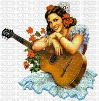 Gitane à la guitare