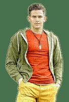 Man  Orange Green Yellow - Bogusia