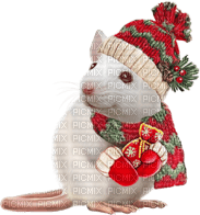 mouse maus souris white animal animals   christmas noel xmas weihnachten Navidad рождество natal  tube