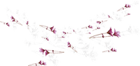 soave flowers deco border branch pink