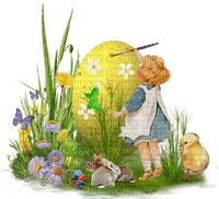 easter child painting egg deco pâques enfant peinture oeuf paques