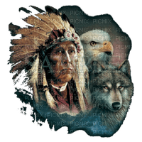 amerindienne homme aigle indian man eagle