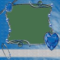 blue frame abstract cadre bleu