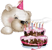 birthday teddy bear deco cake candles