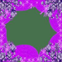 purple flower frame deco violet cadre fleur