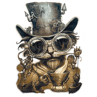 steampunk cat chat