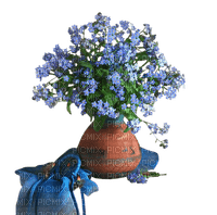 blue flower  bleu fleurs deco