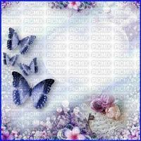 Fond blanc bleu fleurs clé roses perles papillon debutante blue bg blue butterfly flower bg pearl key