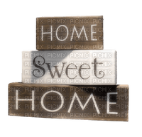 text home sweet home wood brown
