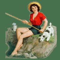 woman fishing femme