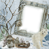 frame cadre rahmen winter hiver snow neige fond background overlay tube white blanc tree animal paysage wolves wolf