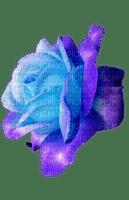 blue purple rose deco