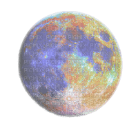 full moon transparent colorful