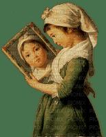 girl mirror vintage - fille miroir vendange - paintinglounge