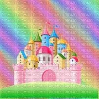 image encre château fantaisie pastel arc en ciel texture anniversaire edited by me