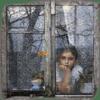 child window rain enfant fenetre pluie automne