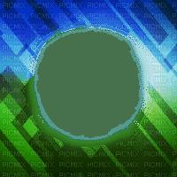 cadre bleu vert frame blue green