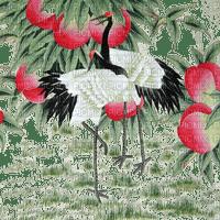 grue paysage crane landscape excotic birds oriental