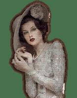 Femme vintage beige