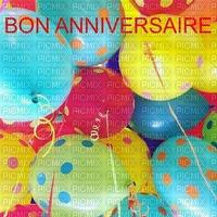 image encre couleur coeur anniversaire effet à pois ballons  edited by me