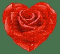 Coeur rouge en forme de rose mouillé Debutante