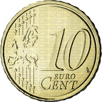 Pièce de 10 centimes euro € coin money sous