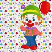image encre color effet à pois carnaval pitre ballon bon anniversaire  edited by me