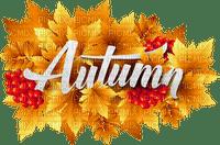 Kaz_Creations Autumn Fall Leaves Leafs Text Logo