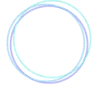 circle frame deco bleu