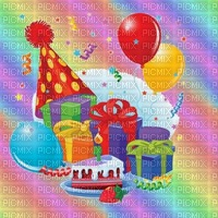 image encre gâteau pâtisserie arc en ciel  bon anniversaire edited by me