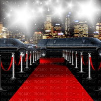 red carpet fond city background skyline
