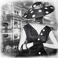 vintage woman bg b/w FEMME NOIR BLANC fond
