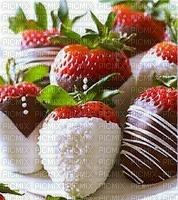 fraises enrobées de chocolat avec des vermicelles de bonbons mariage