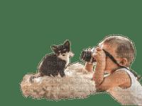 child with cat bp