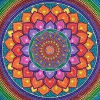 multicolore art image bleu rose jaune multicolored color kaléidoscope kaleidoscope effet encre edited by me