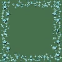 turquoise bubble deco frame cadre