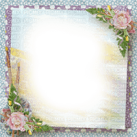 frame cadre rahmen tube fond background flower fleur blossom blumen spring printemps fleurs overlay vintage