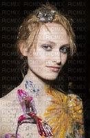image encre femme fashion gris violet noir rose color or visage deco ink ivk charme edited by me