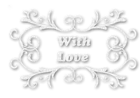 soave text deco with love valentine white