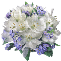 Kaz_Creations Flowers-Fleurs-Blue-White-Purple