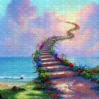 Paysage fantastique debutante escaliers ciel bg fantasy bg fantastic stairs sky