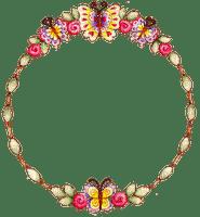 flower circle frame CADRE CERCLE FLEURS DECO