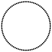 black pearl frame circle